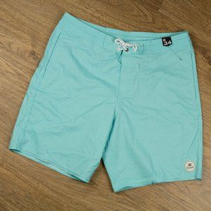 Billabong Board Shorts Swim Trunk Aqua Size 34 NWT